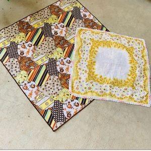 Vintage 60's/70's handkerchiefs square